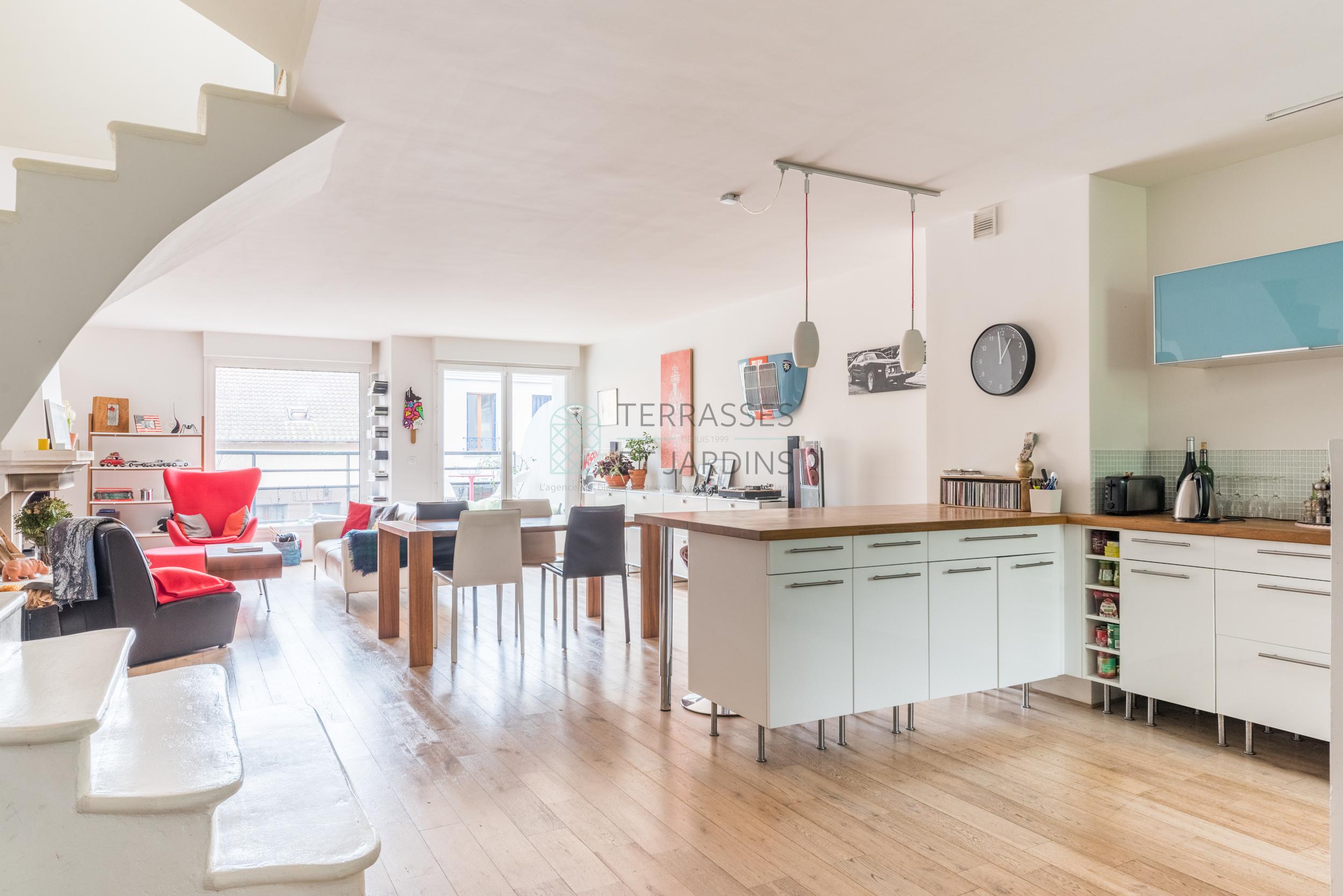 Suresnes – Belvédère – Maison 5p – Balcons – Terrasse – Rooftop – Box