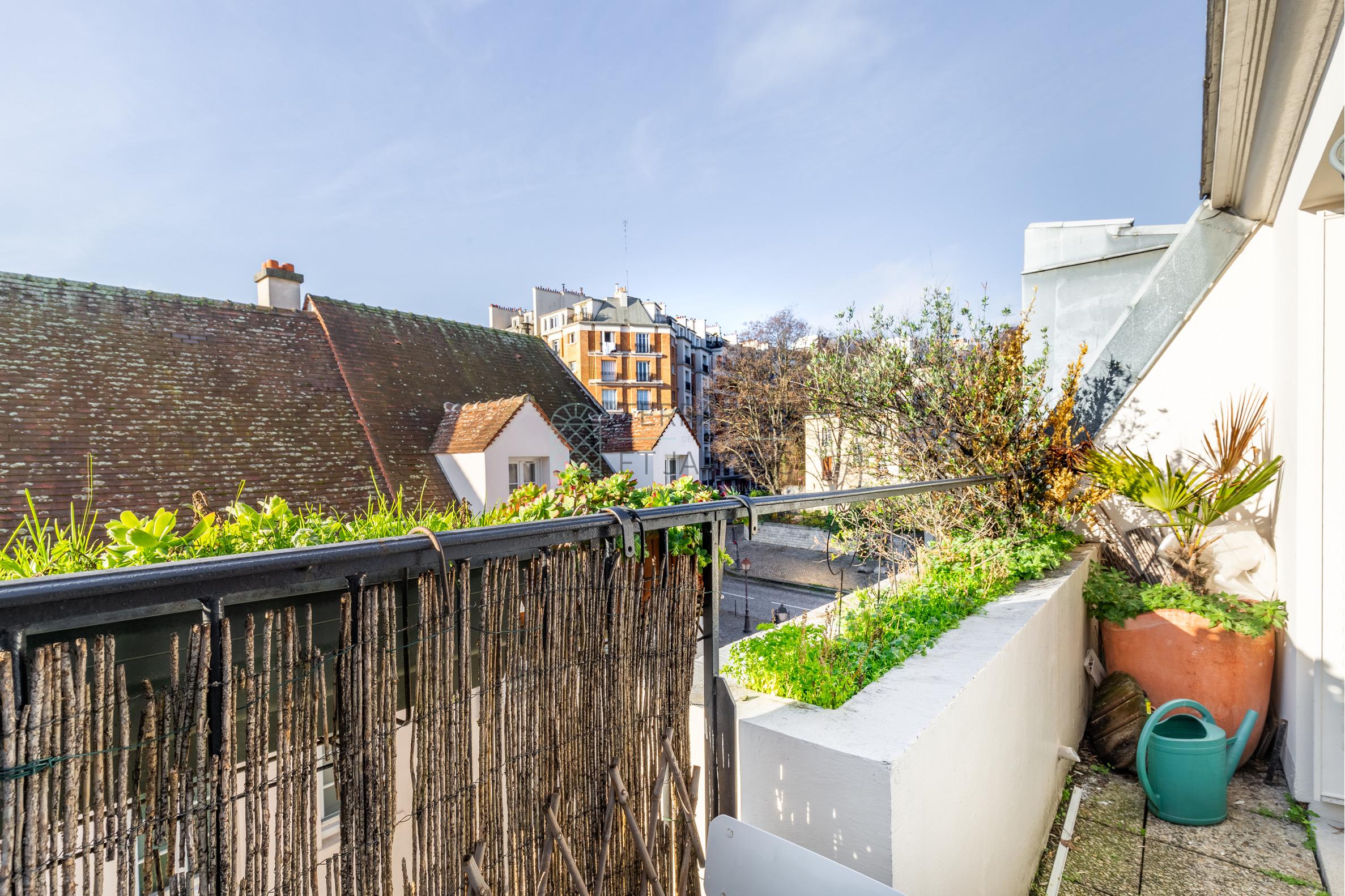 Paris- 20 – Saint-Blaise – Appartement 2p – Balcons