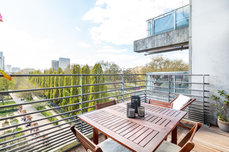 Paris 12 – Parc de Bercy – Duplex 3/4p – Terrasse – Balcons – Pkg