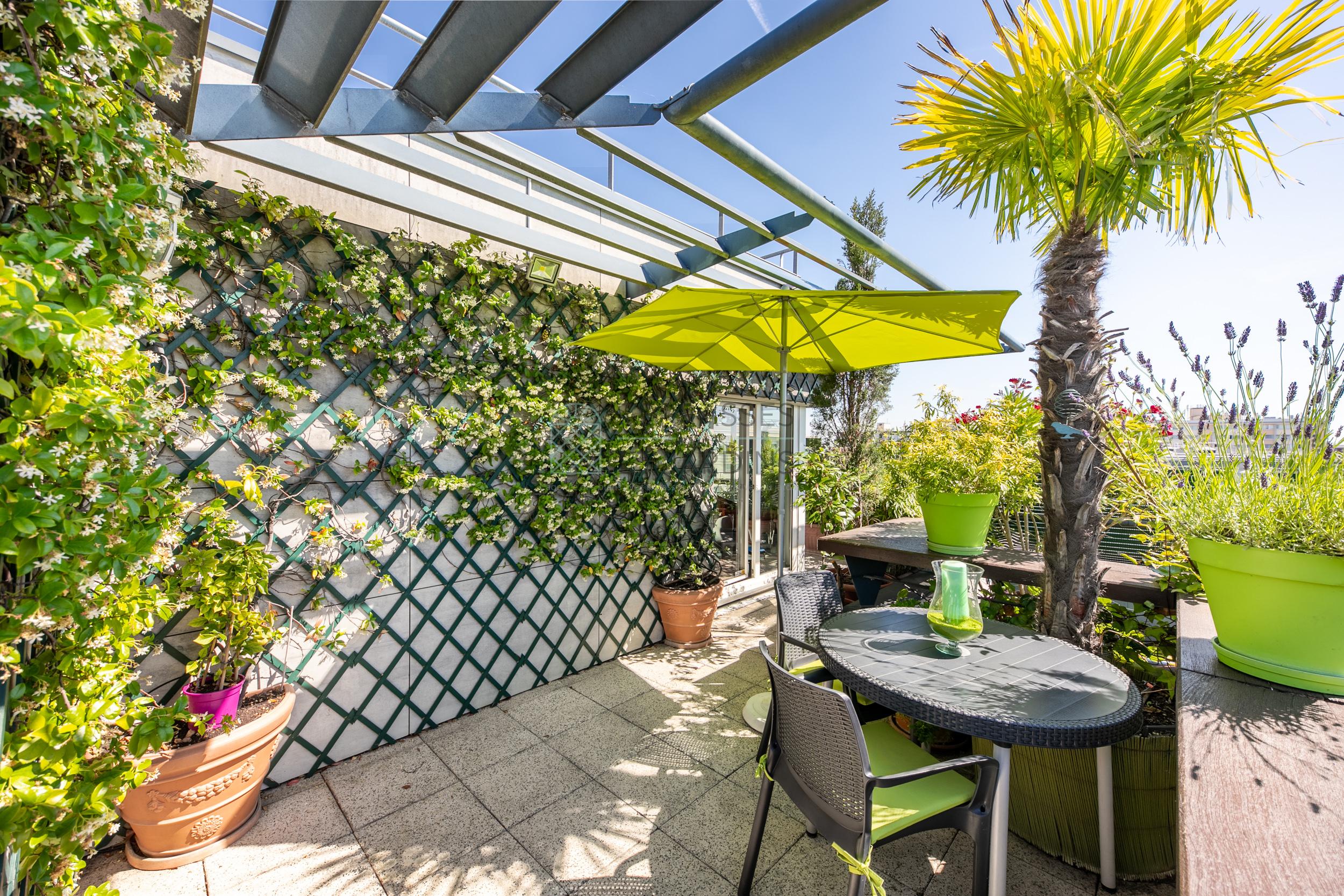 Paris 19 – Buttes Chaumont – Appartement 3p – Terrasse