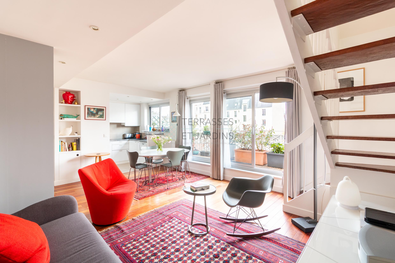 Paris 14 – Pernety – Duplex 4p – Dernier étage – Terrasses