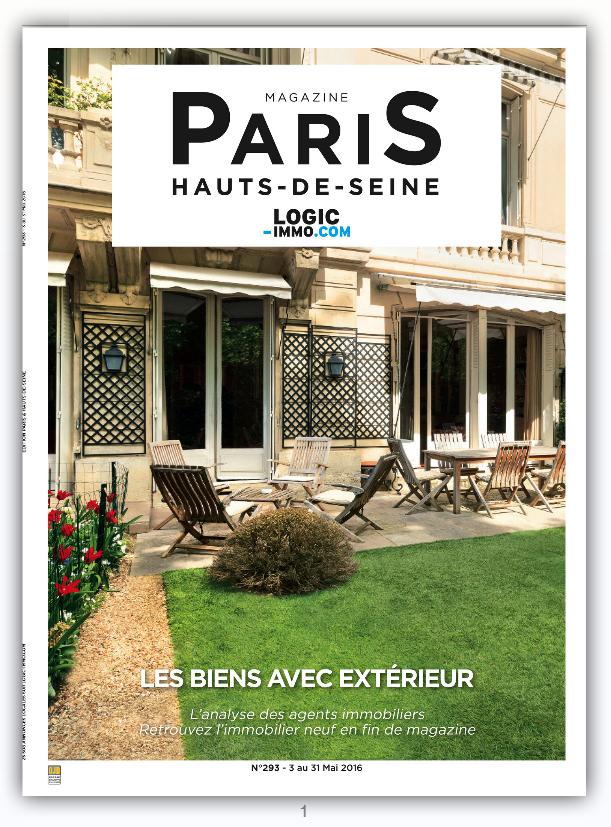 Magazine logic immo n 293 terrasses et jardins for Terrasse et jardin immobilier paris