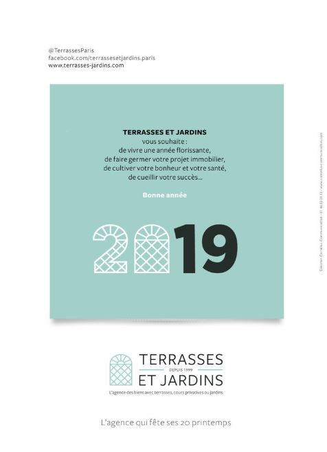 Magazine Logicimmo N°327 - TERRASSES ET JARDINS  Pub Voeux 2019