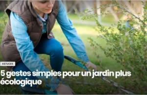 Gestes simples pour un jardin plus écologique