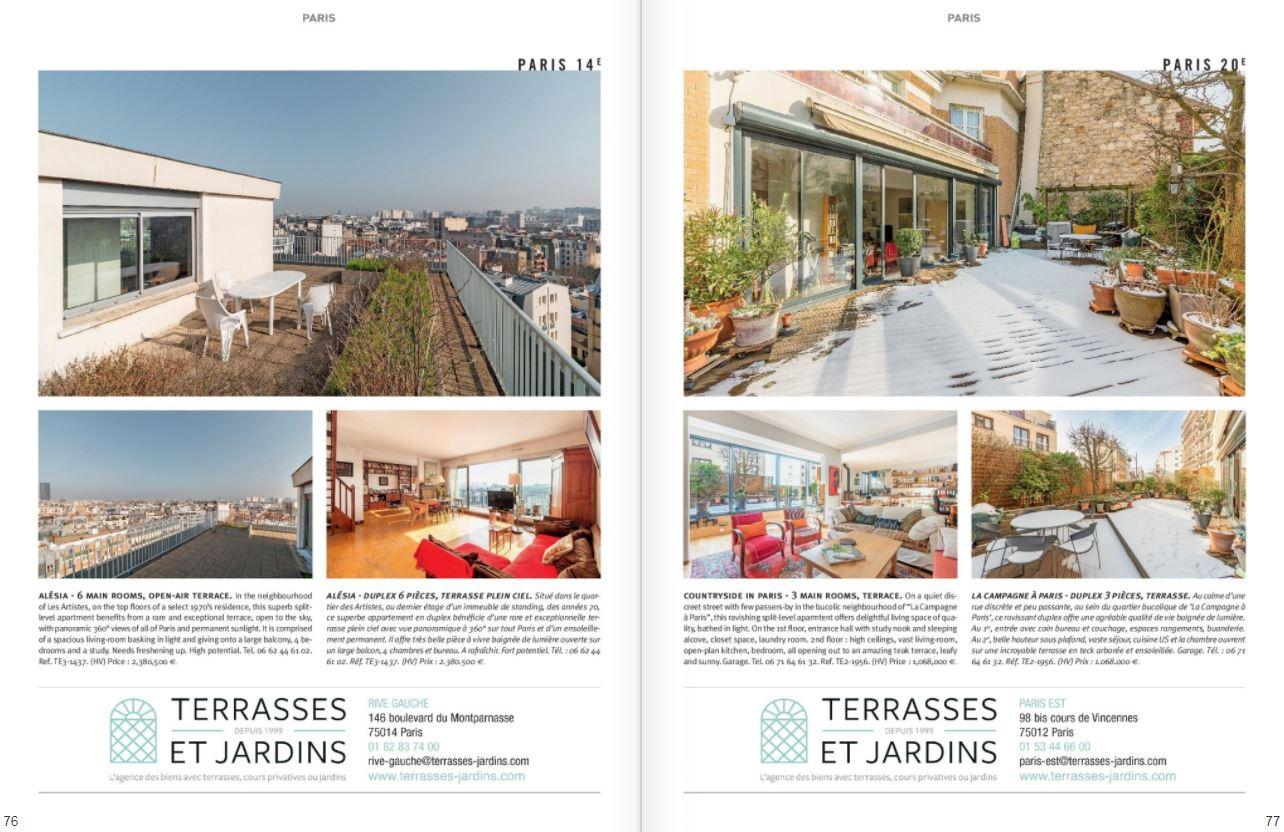 Avril 2021 - Magazine Résidences Immobilier - N°274 - TERRASSES ET JARDINS
