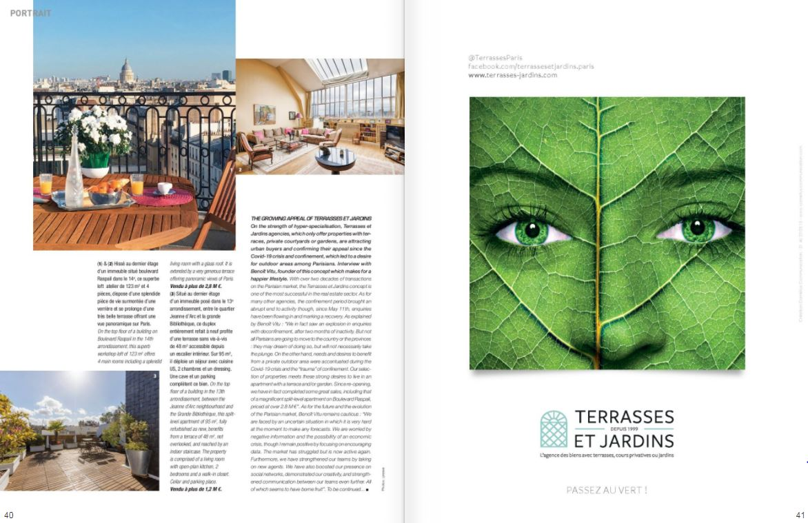 Magazine Résidences Immobilier octobre 2020 - N°78 ou 268 - TERRASSES ET JARDINS