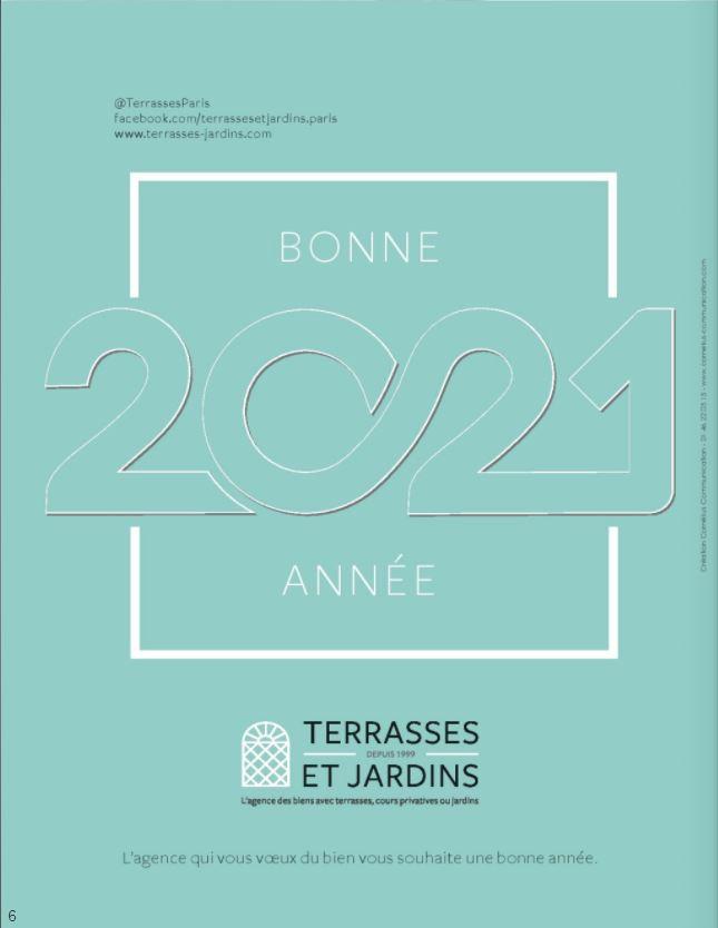 Janv. 2021 - Magazine Résidences Immobilier - TERRASSES ET JARDINS