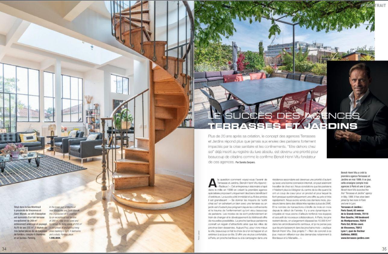 Juillet 2021 - Magazine Résidences Immobilier N°278 - TERRASSES ET JARDINS EDITO