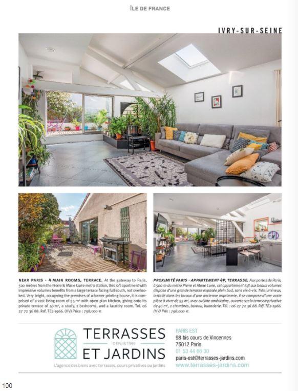 Mai 2021 - Magazine Résidences Immobilier N°275 - TERRASSES ET JARDINS - Ivry