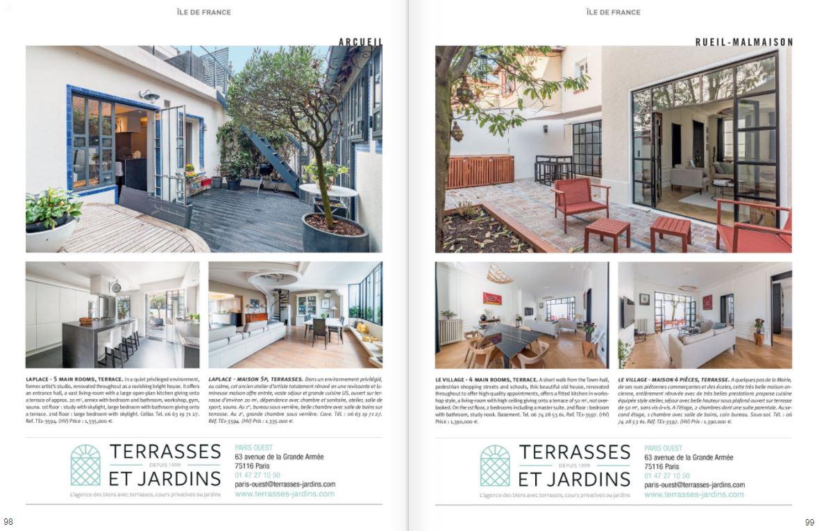 Mai 2021 - Magazine Résidences Immobilier N°275 - TERRASSES ET JARDINS - Rueil Malmaison - Arcueil