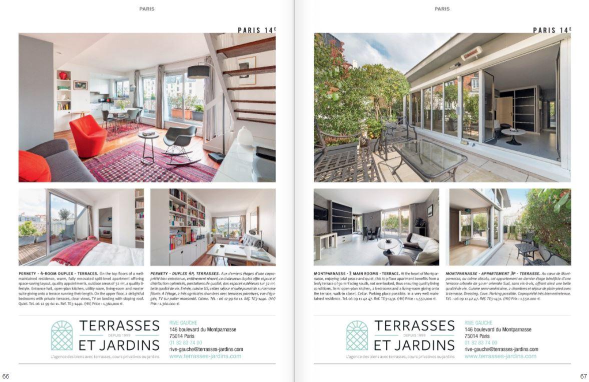 Mai 2021 - Magazine Résidences Immobilier N°275 - TERRASSES ET JARDINS - Paris 14