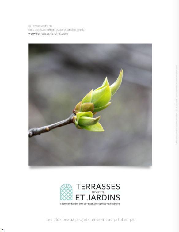Mai 2021 - Magazine Résidences Immobilier N°275 - TERRASSES ET JARDINS - Publicité