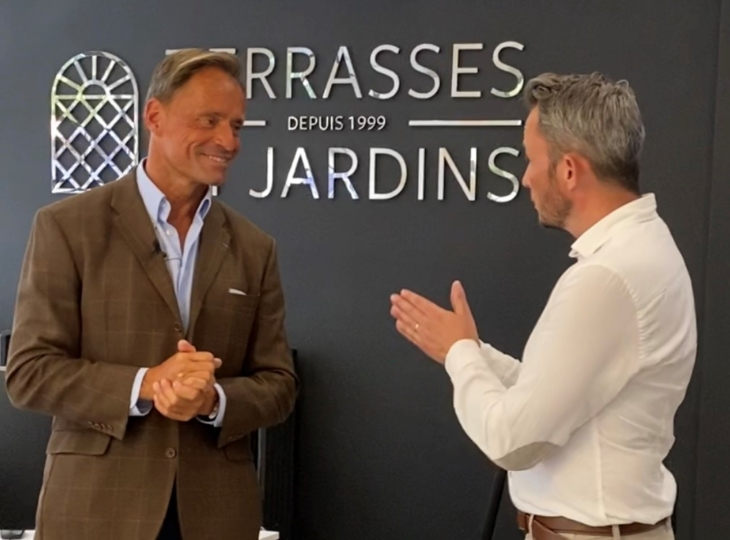 Romain Cartier s'invite chez TERRASSES ET JARDINS