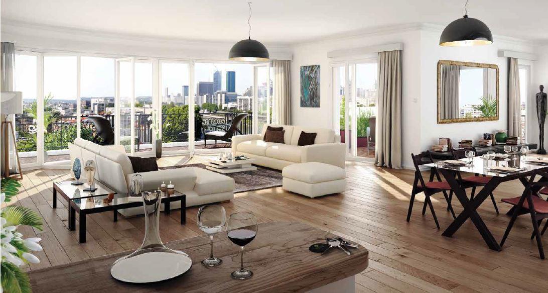 Neuilly – Île de la Jatte – Penthouse 5p – Terrasse panoramique – Box