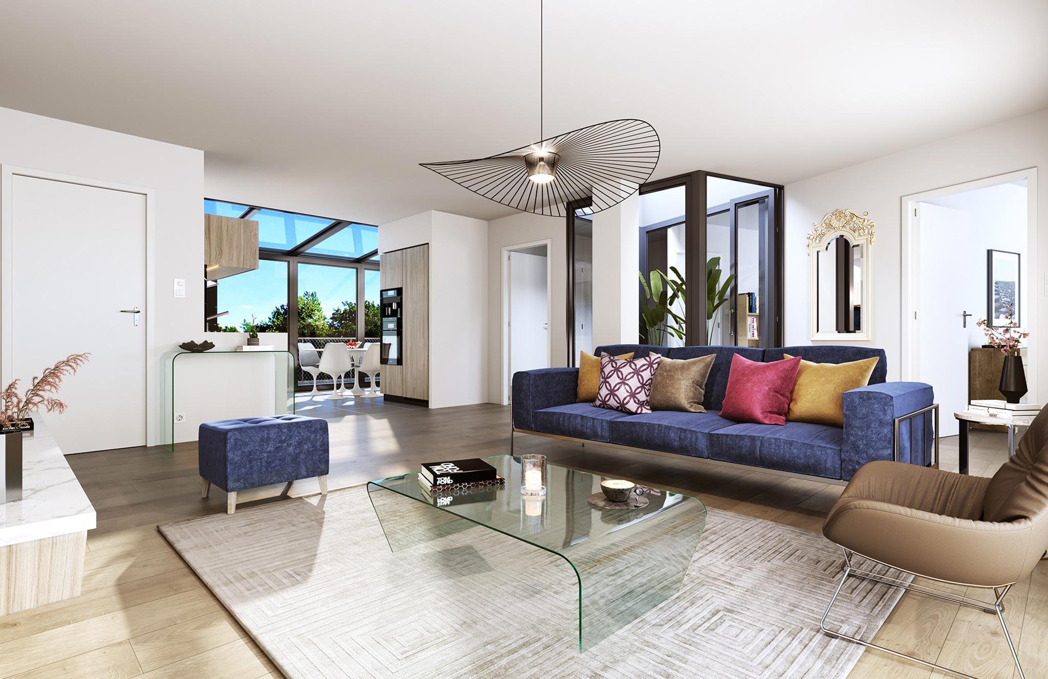 Maisons Laffitte – Château – Appartement 3p – Loggia