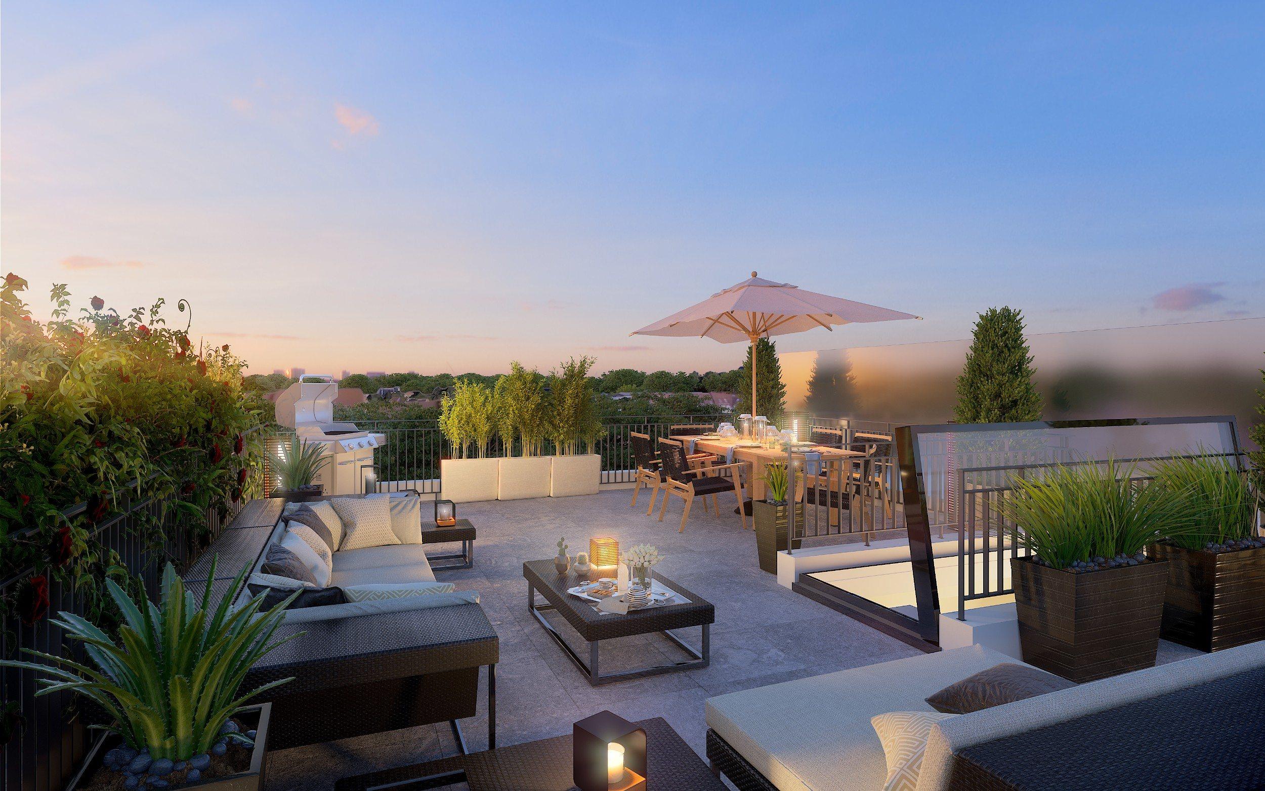 Montesson – Centre-ville – Appartement 5p – Terrasse plein ciel