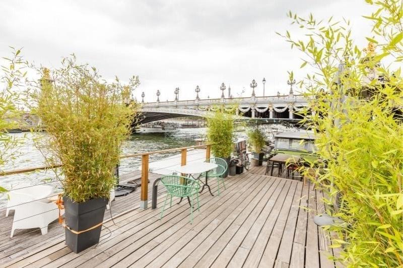 Paris 08 – Pont Alexandre III – Péniche 4p – Terrasses