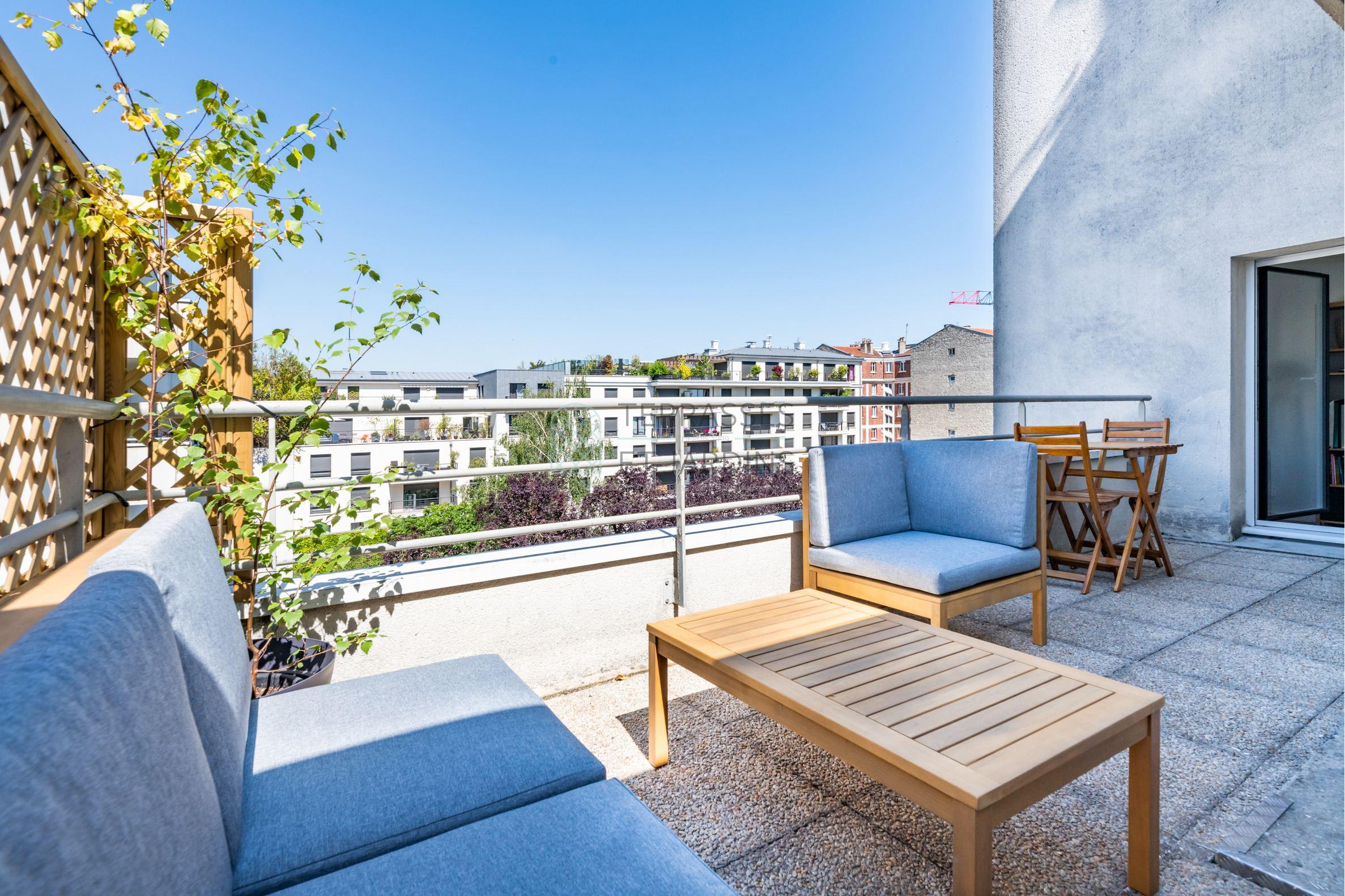 Montrouge – Mairie – Appartement 4p – Terrasses – Vue