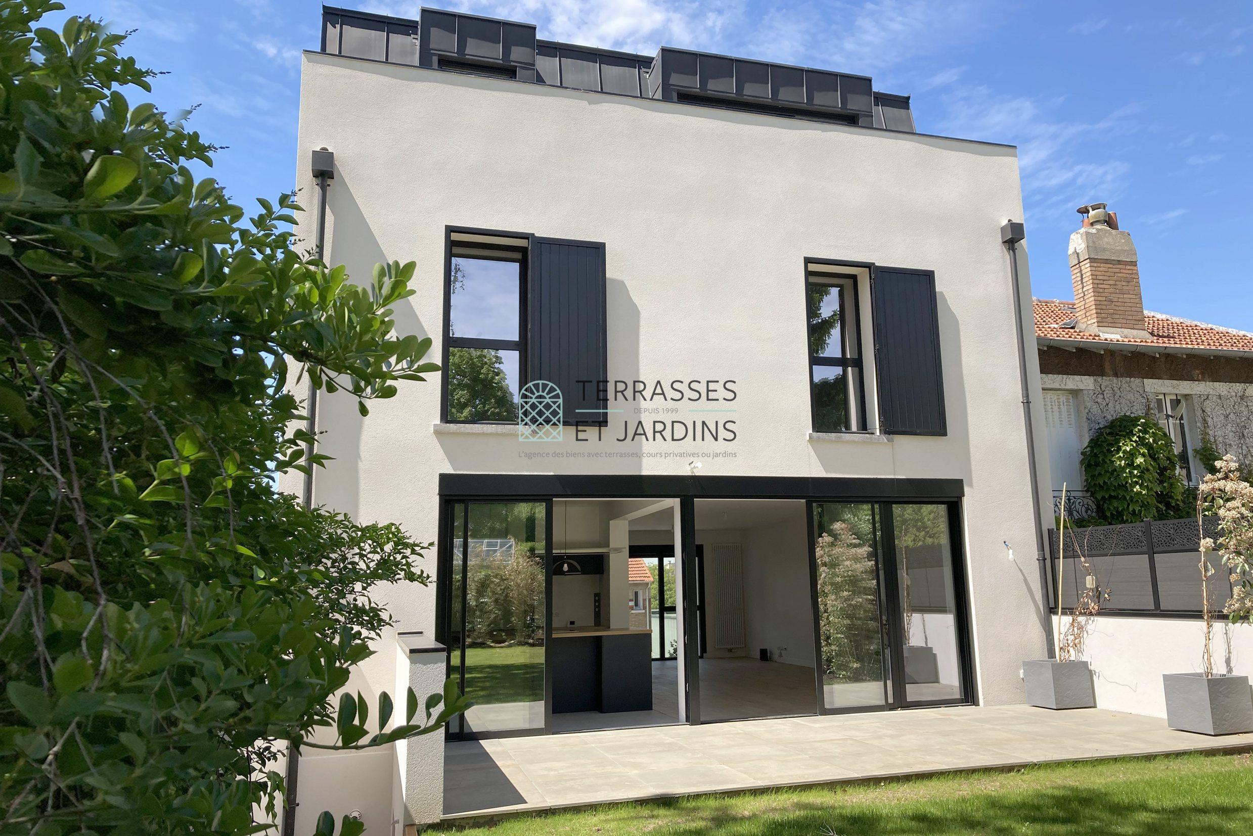 Clamart – Maison-Blanche – Maison familiale 9p – Terrasses – Jardin – Pkgs