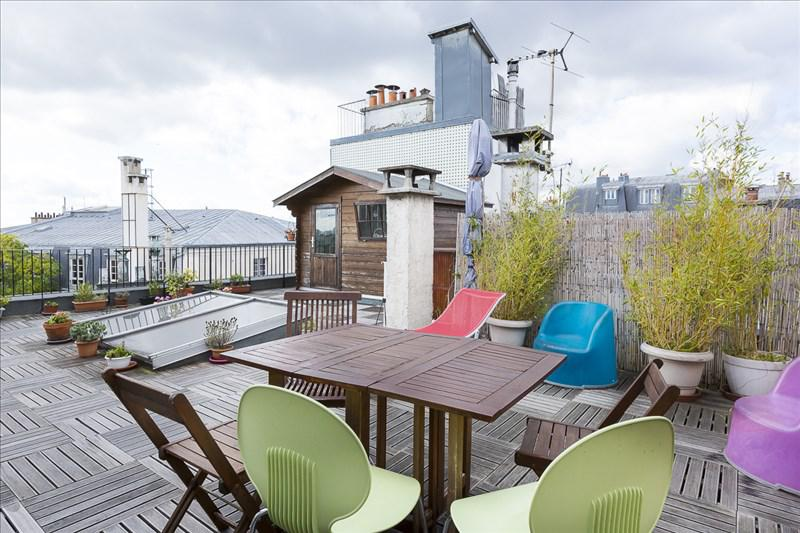Appartement 3p vendre paris 18 avec terrasses et for Appartement paris terrasse