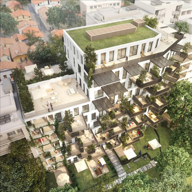 Appartement 5p vendre villeurbanne avec terrasses et jardins 00876 - Terrasse jardin marais villeurbanne ...