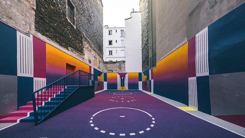 Terrain de basket relooké – Paris