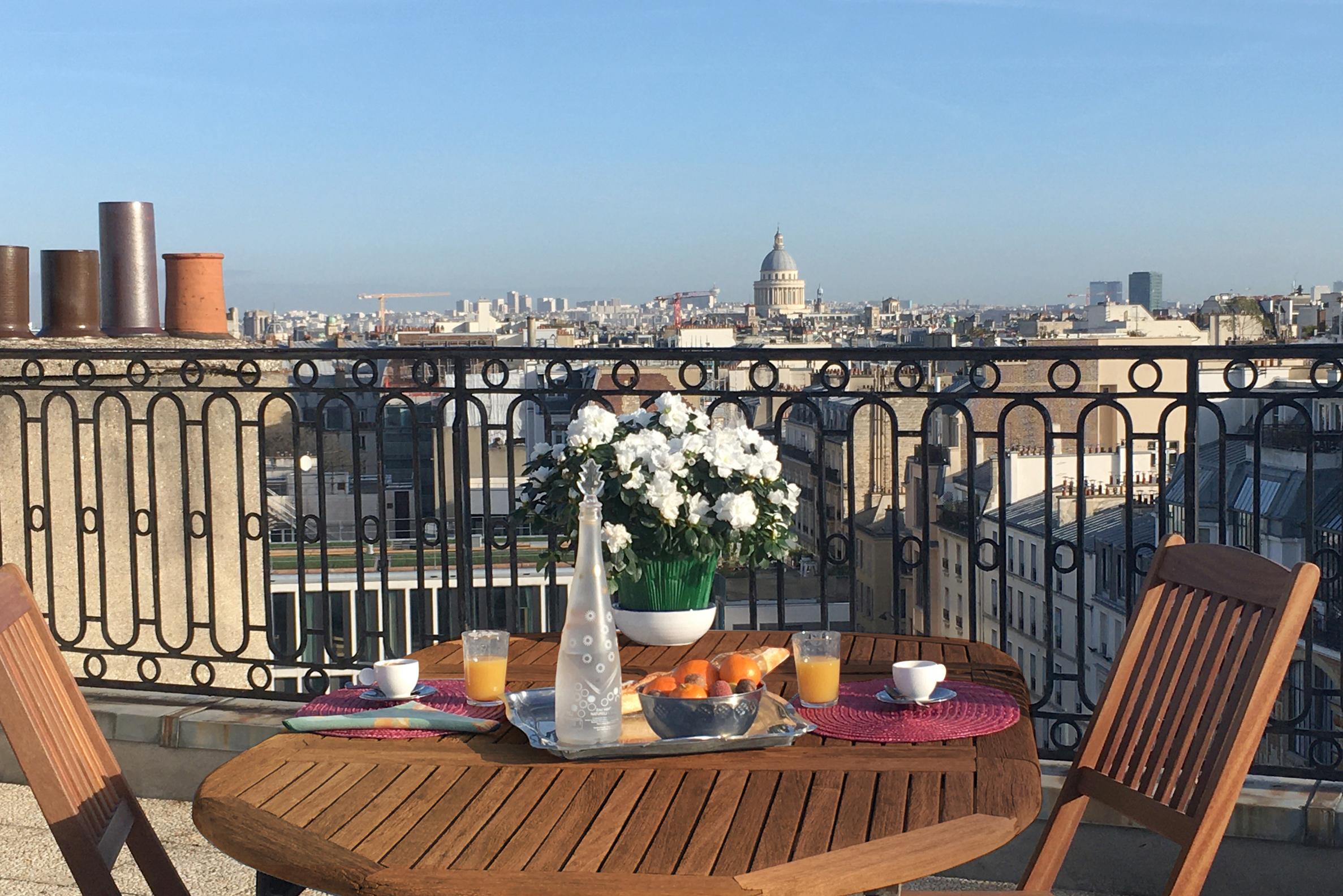 Paris 14 – Raspail – Atelier 4p – Dernier étage – Terrasse – Vue